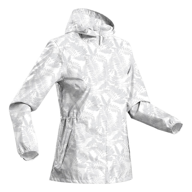 Women's country walking rain jacket NH100 Raincut Full Zip