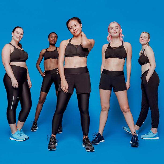 女款跑步運動褲RUN DRY - 黑色