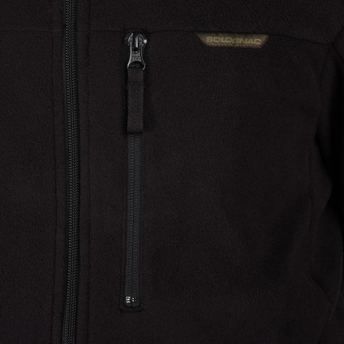 狩獵刷毛上衣300-黑色