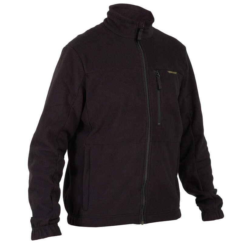 Pile caccia Abbigliamento uomo - Pile Caccia 300 Nero SOLOGNAC - Abbigliamento uomo