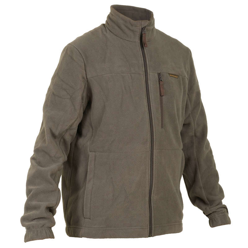 FLEECES/PADDED JACKETS Shooting and Hunting - 300 FLEECE BROWN SOLOGNAC - Hunting and Shooting Clothing