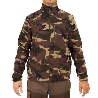 Флісова кофта 300 для полювання - Зелений камуфляж