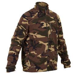 Fleece vest 300 camouflage groen