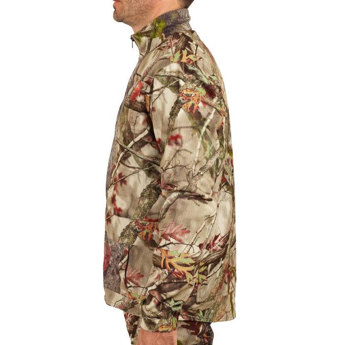 Ademende geluidloze jagersjas 100 boscamouflage