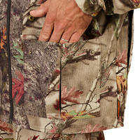 HUNTING JACKET SILENT BREATHABLE 100 FOREST CAMO