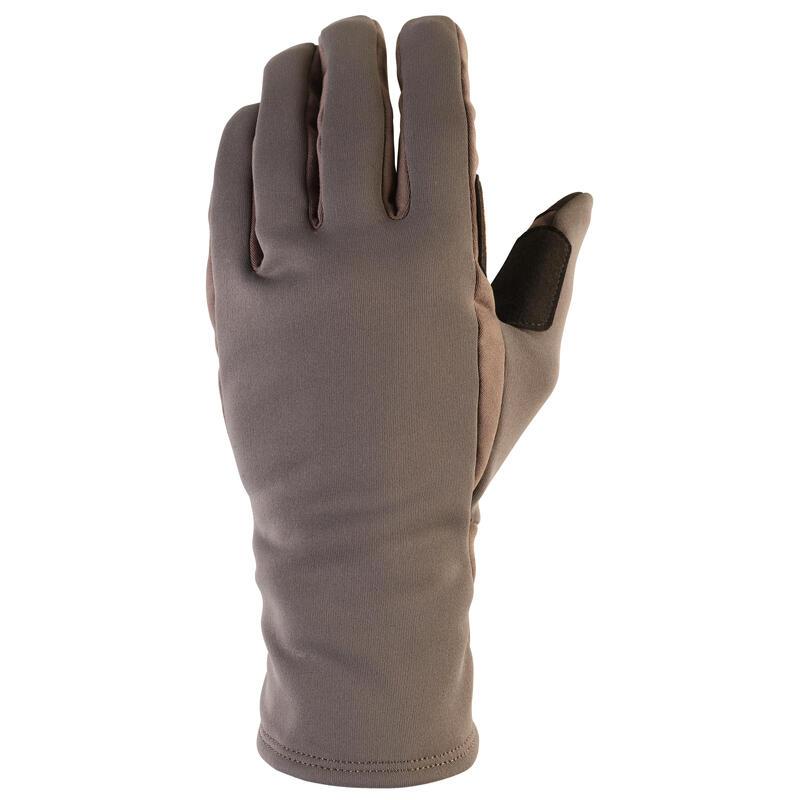 Gants de chasse polyester chauds - 500 kaki