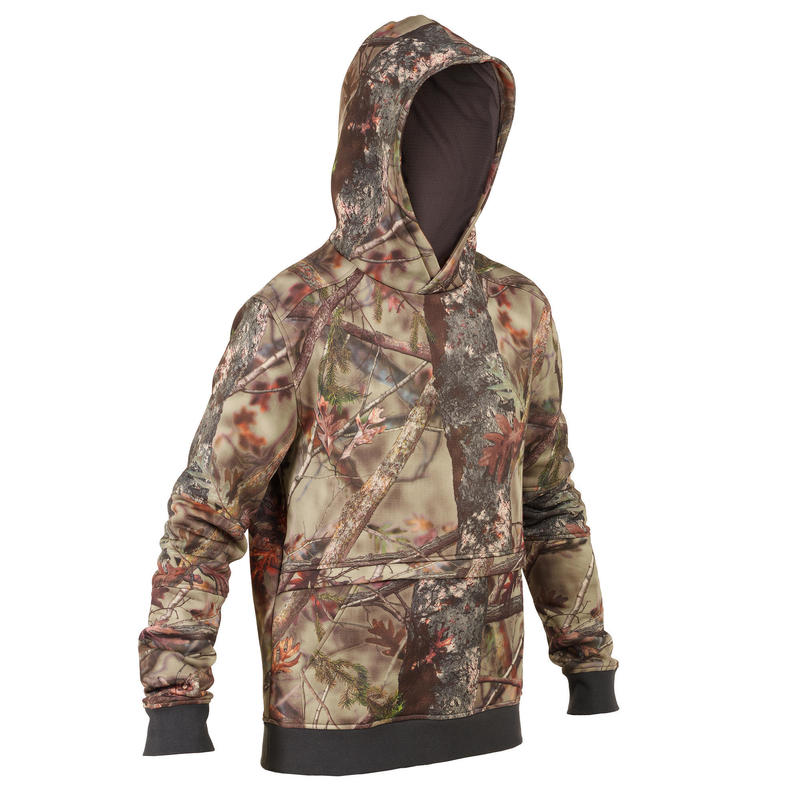 Sweat capuche chasse Silencieux camouflage 500