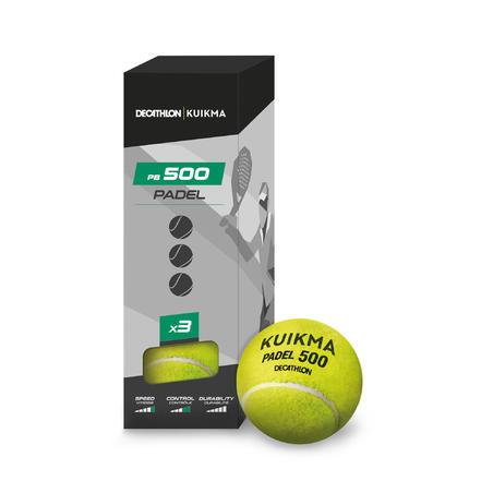 Pressureless Padel Ball PB 500 Tri-Pack