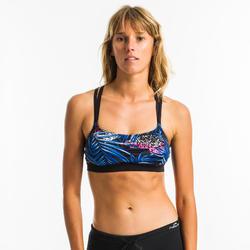 Haut de maillot de bain d'Aquafitness femme Meg mem noir