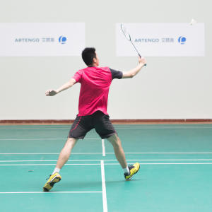 Badminton footwork