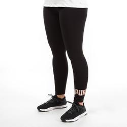 7/8-legging dames zwart/goud