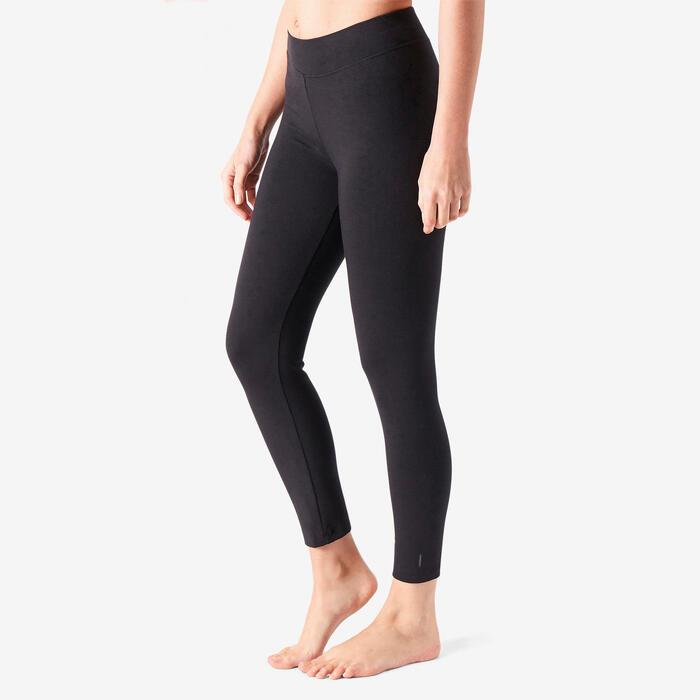 Legging de Sport 7/8 500 Femme Noir