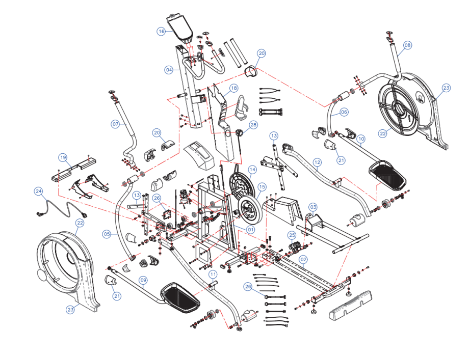 Exploded view EL900