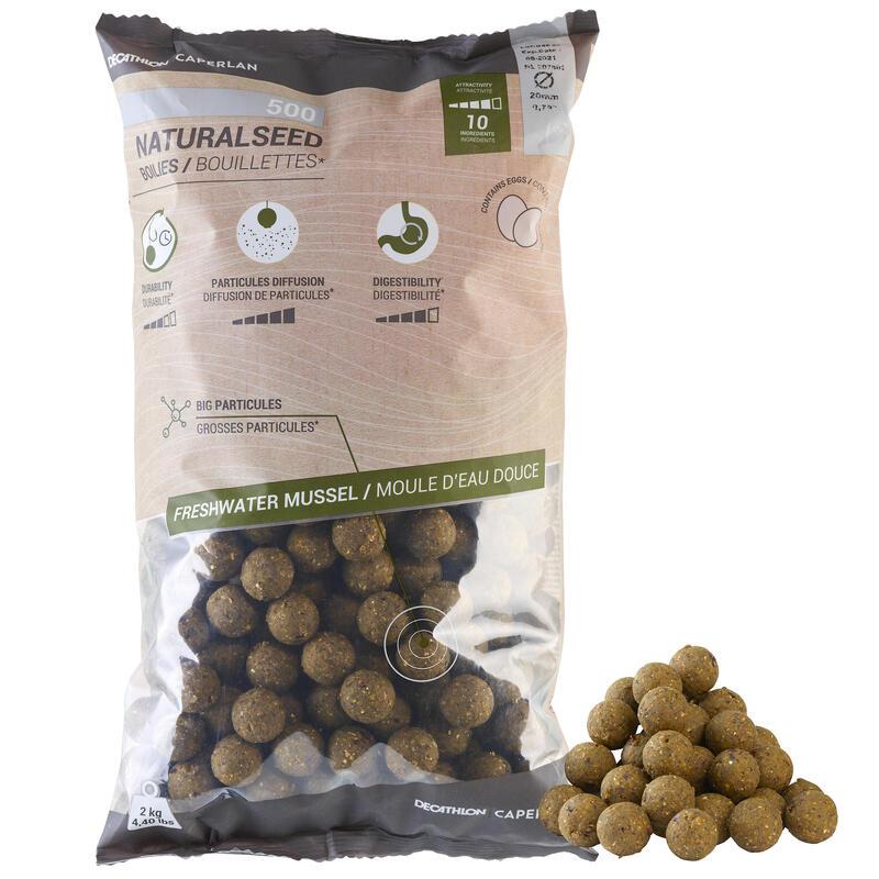 Boilies voor karper Natural Seed 20 mm 2 kg mosselen
