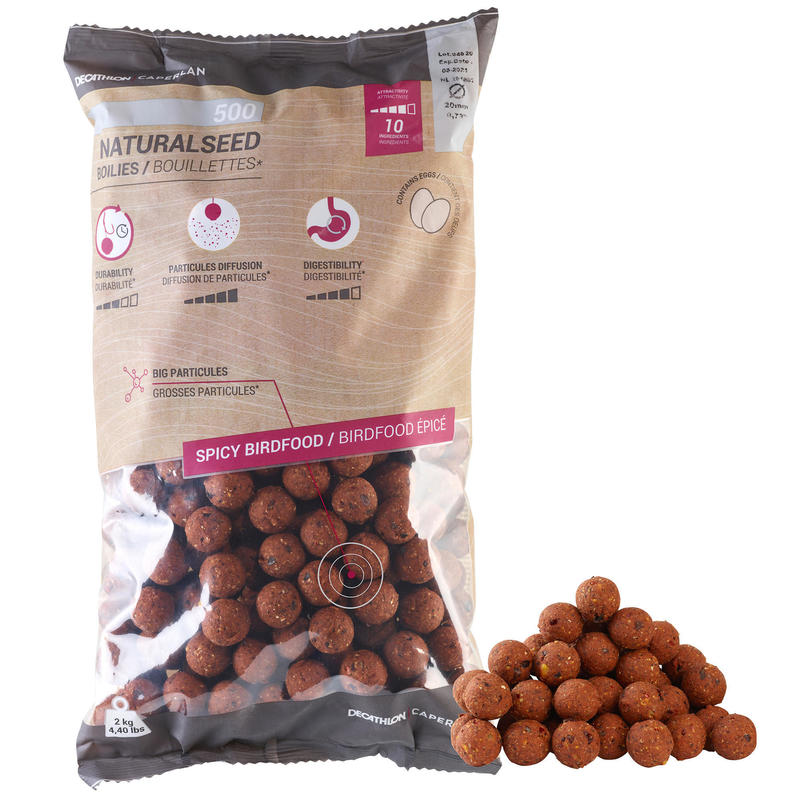 Carp Fishing Boilies NATURALSEED 20 mm 2 kg - Spicy