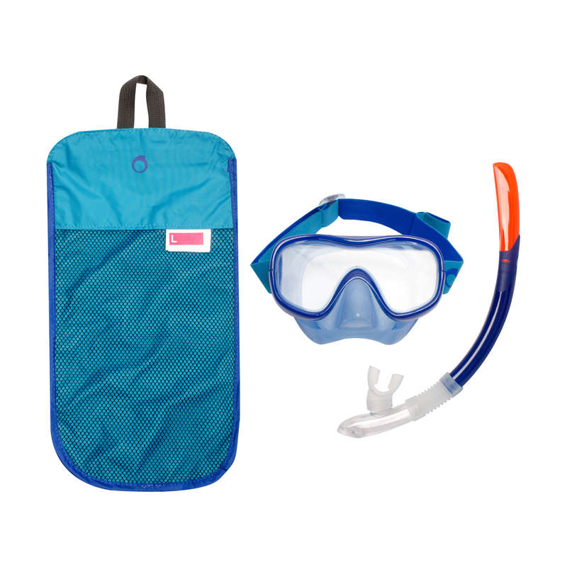 SNORKELING MASKI, SNORKELING AKCESORIA Snorkeling - Zestaw Maska Fajka SNK 520 SUBEA - Snorkeling