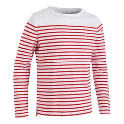 女款航海長袖T恤Sailing 100-紅色