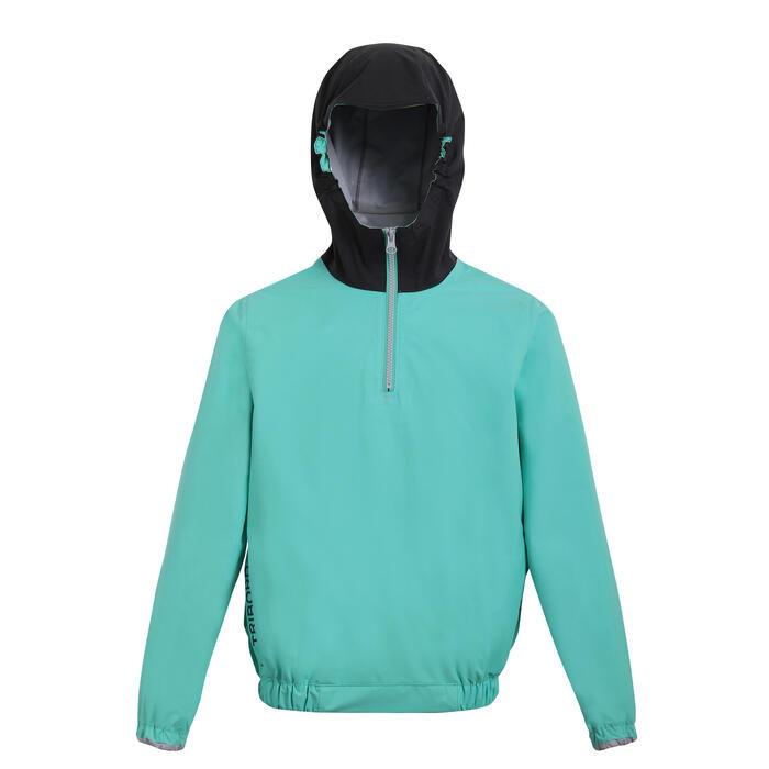 兒童款防水連帽外套Dinghy 100-黃色/深灰色
