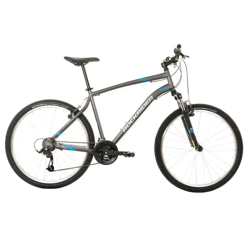 Горные велосипеды для продвинутых Велоспорт - Горный велосипед ST100 серый ROCKRIDER - Велоспорт