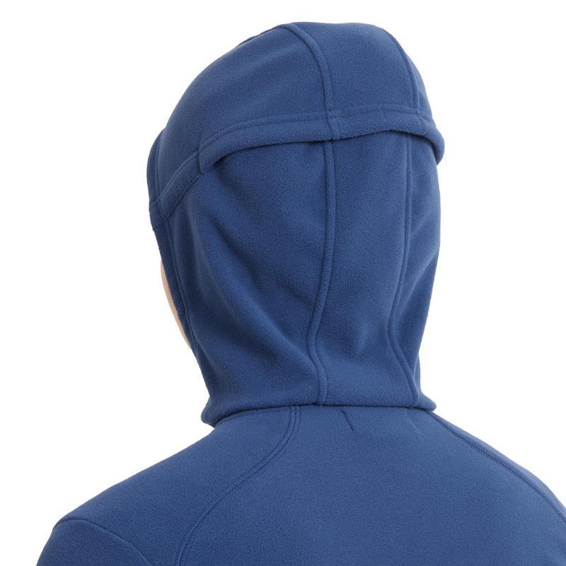 Polaire à capuche 2en1 équitation femme bleu nuit