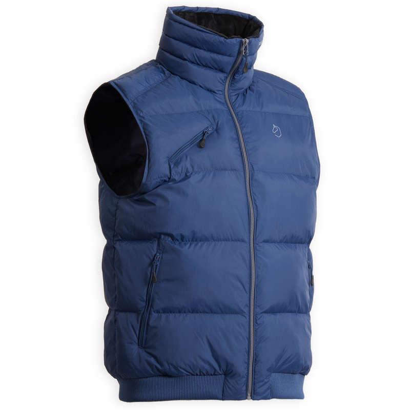 COLD WEATHER MAN GARMENT Jezdectví - PÁNSKÁ VESTA 500 WARM MODRÁ FOUGANZA - Oblečení pro jezdce
