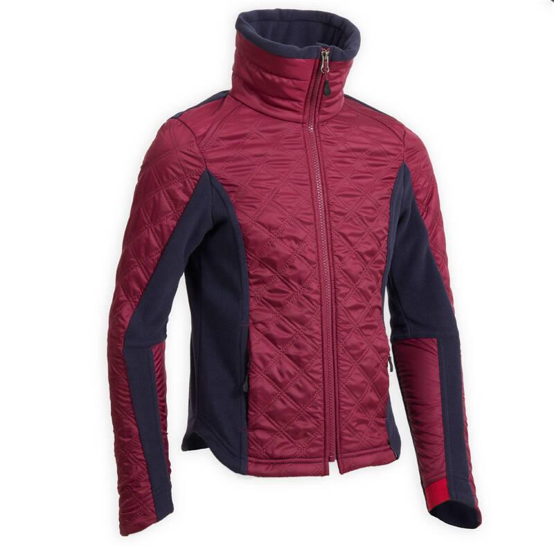 DĚTSKÉ JEZDECKÉ OBLEČENÍ  DO CHLADNÉHO POČASÍ Jezdectví - DĚTSKÁ FLEECOVÁ MIKINA 500  FOUGANZA - Oblečení pro jezdce