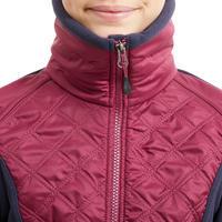 Kids' Horse Riding Bi-Material Fleece 500 Warm - Plum and Navy
