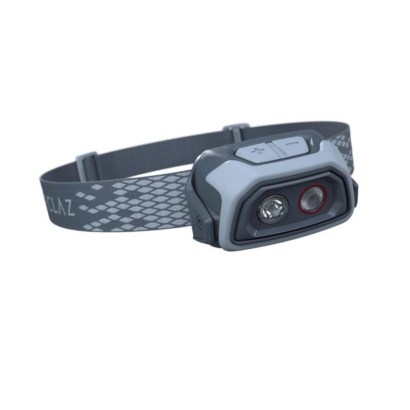 Hoofdlamp voor trekking TREK 500 USB 200 lumen blauw