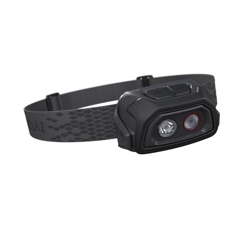 Lanternă Frontală TREK500 200 lumeni USB Negru