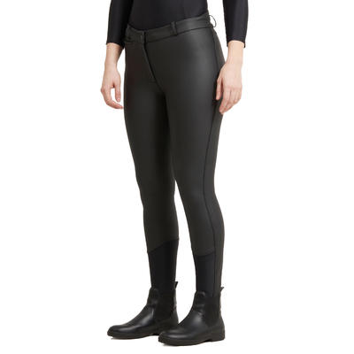 מכנסי רכיבה חמים ועמידים במים דגם Kipwarm לנשים – כחול נייבי/שחור