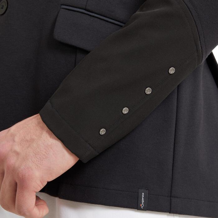 Veste de concours équitation homme COMP 100 noir et manches noires