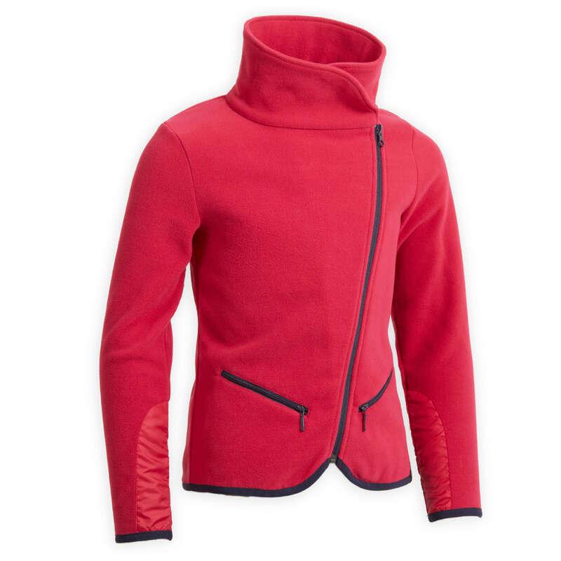COLD WEATHER JR RIDINGWEAR Jezdectví - DĚTSKÁ FLEECOVÁ MIKINA 100  FOUGANZA - Oblečení pro jezdce