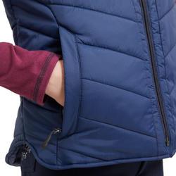 Bodywarmer voor paardrijden kinderen 500 WARM nachtblauw
