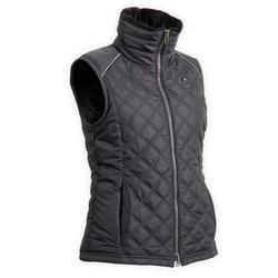 Dames bodywarmer voor paardrijden 500 Warm zwart/grijs