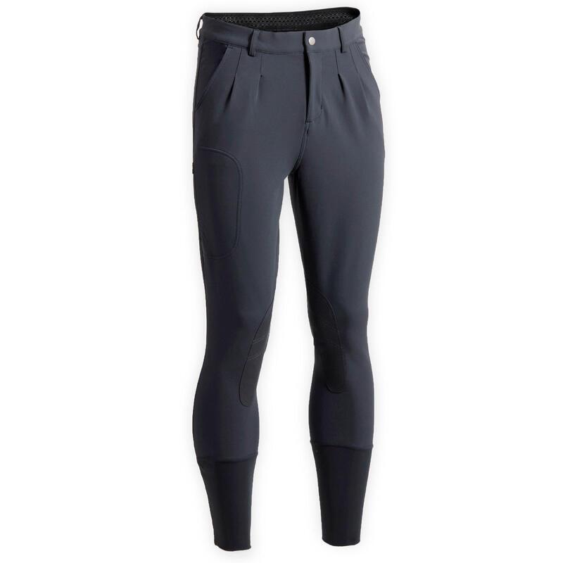 Pantalon équitation homme gris foncé 500