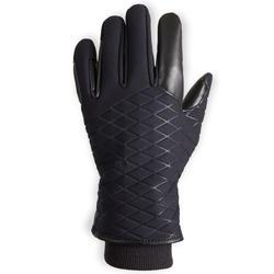 Gants chauds et imperméables d'équitation enfant 500 WARM noir