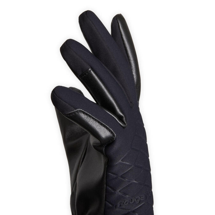 Warme en waterdichte rijhandschoenen voor kinderen 500 WARM zwart