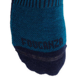 Chaussettes chaudes équitation adulte 500 WARM pétrole et marine