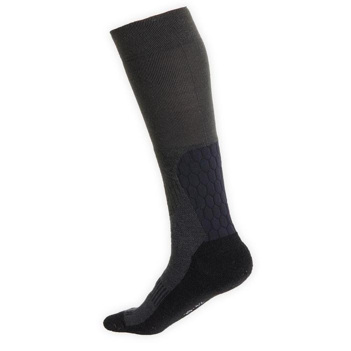 Chaussettes chaudes équitation adulte 500 WARM gris et noir