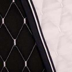 Tapis de selle cheval dressage blanc 900