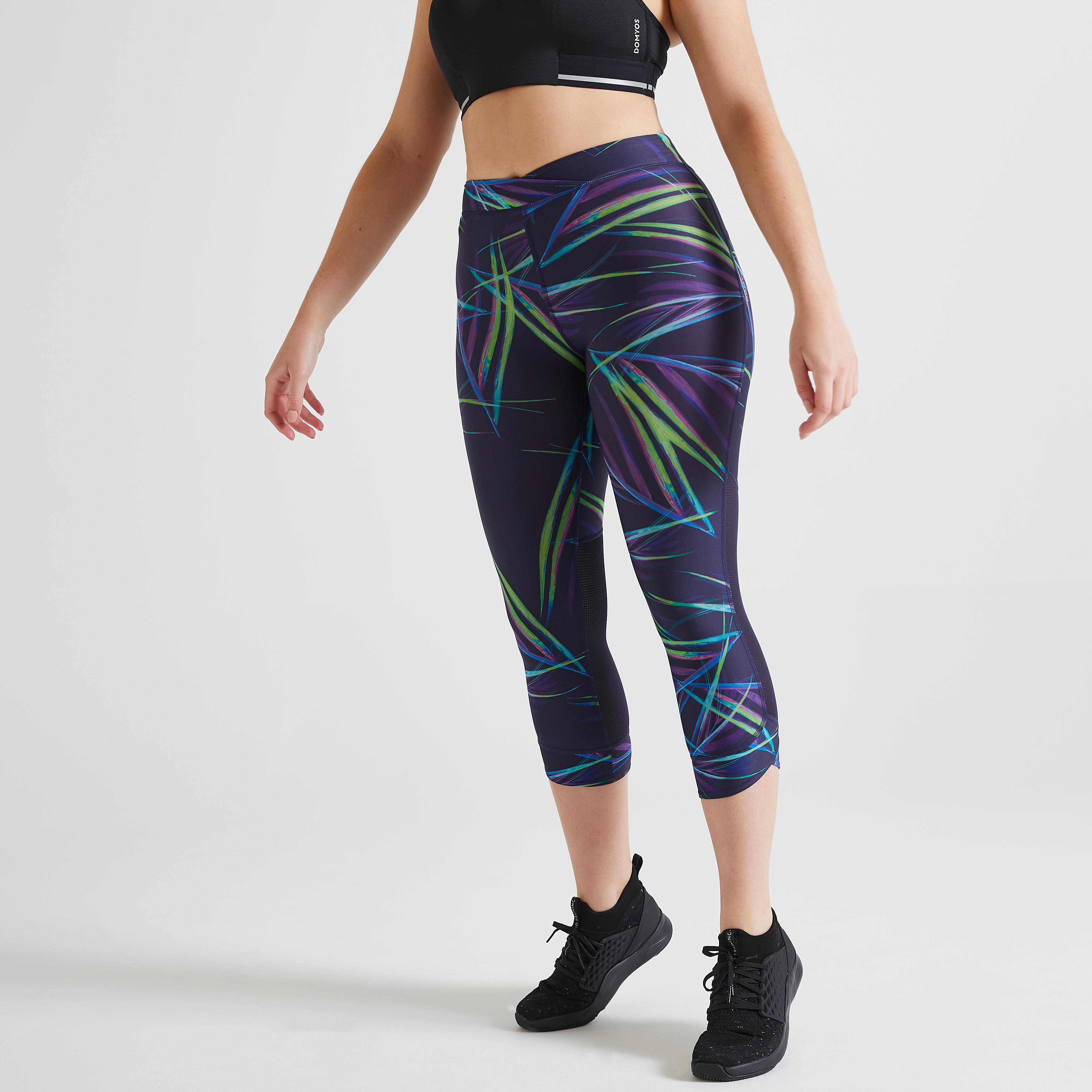Femme Leggings Running Camping Sport Gym Pantalon Gym Cyclisme 3//4 Short influents