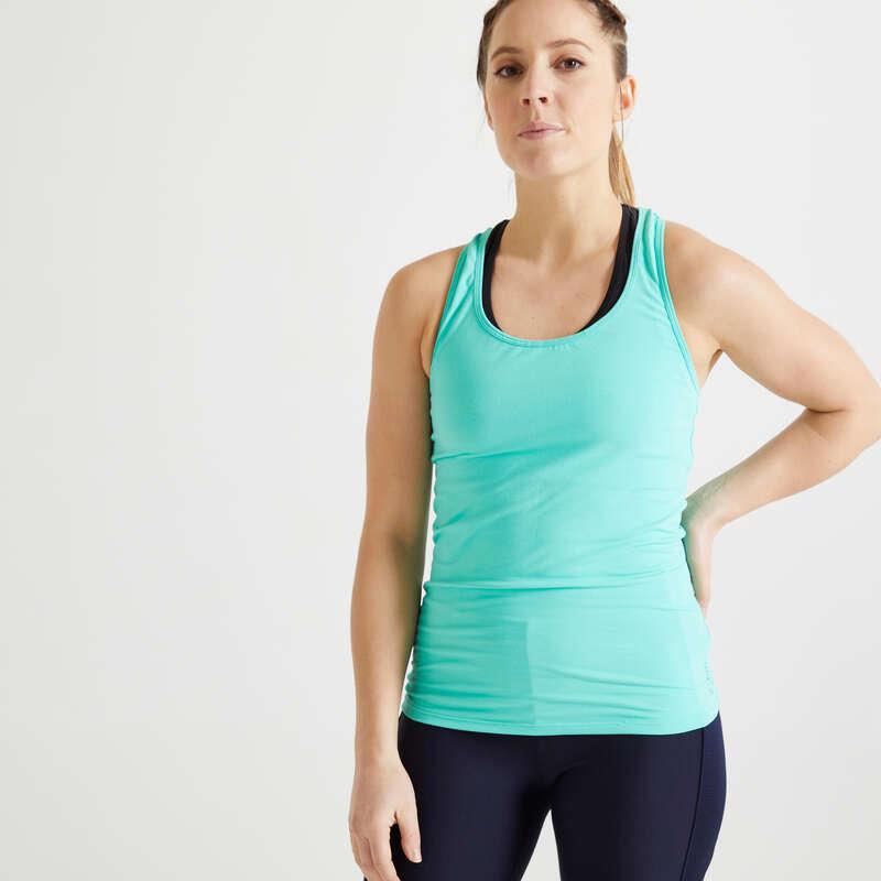 Îmbrăcăminte cardio fitness damă Fitness Cardio, Bodybuilding, Crosstraining, Pilates - Maiou My Top 100 Damă  DOMYOS - Imbracaminte fitness cardio