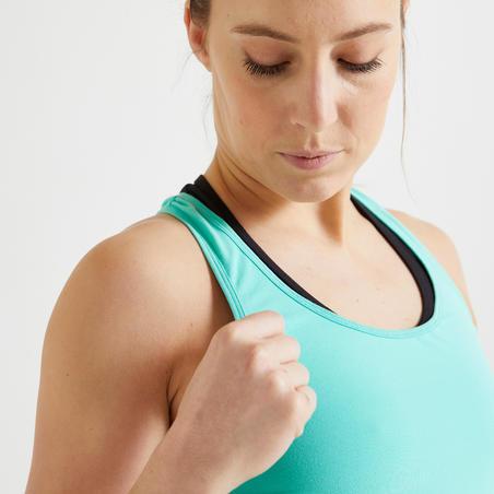 """Sieviešu sporta bezpiedurkņu krekliņš """"100"""", zaļš"""
