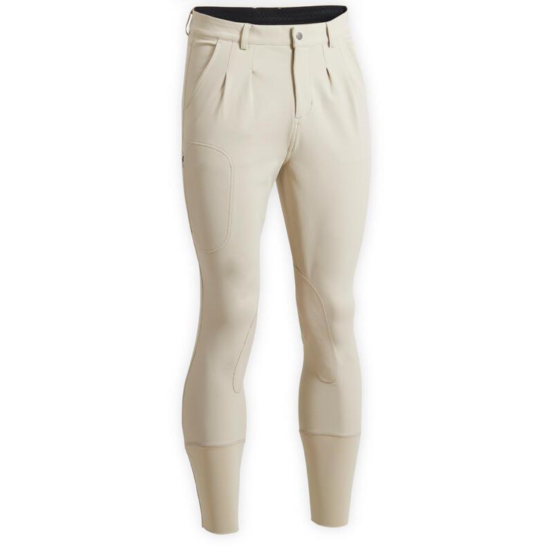 Pantalon équitation homme beige 500