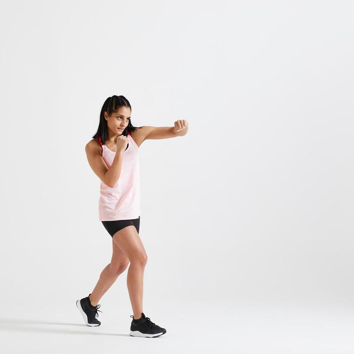 Fitnesstop voor cardiotraining voor dames 500 lichtroze