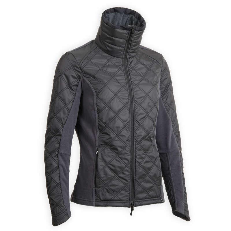Női téli ruházat Lovaglás - Lovas polár 500 Warm, szürke FOUGANZA - Lovaglás