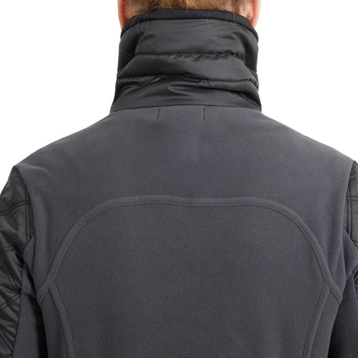 Polaire bi-matière équitation femme 500 WARM grise