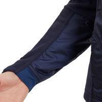 Polaire bi-matière équitation femme 500 WARM bleu marine