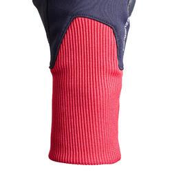 Gants chauds d'équitation enfant 140 WARM marine et rose
