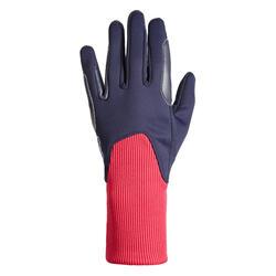 Warme rijhandschoenen voor kinderen 140 Warm marineblauw en roze